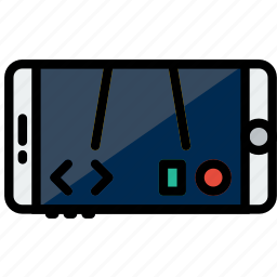 game, mobile, reality, virtual, vr icon