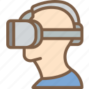 helmet, reality, virtual, virtual reality, vr icon