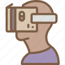 cardboard, headset, reality, virtual, virtual reality, vr icon