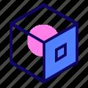 3d cube, box, cube, geometric icon