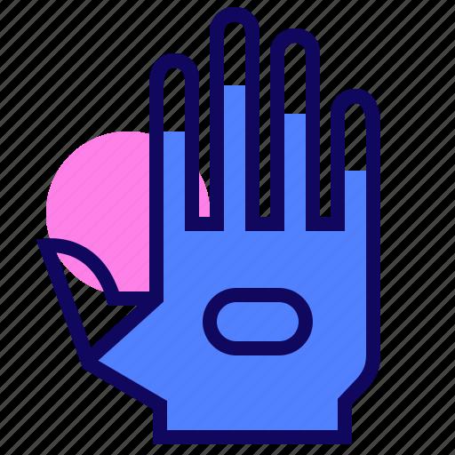 glove, sensor, virtual reality, vr icon