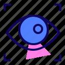 eye, movement, pupil, vr icon