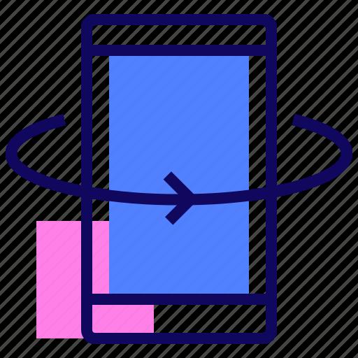 arrow, phone, rotation, smartphone icon