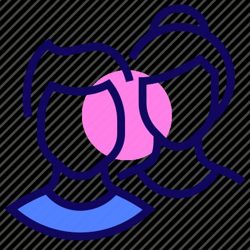 boy, girl, teams, users icon