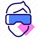 glasses, goggles, headset, vr icon