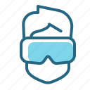 equipment, gaming, virtual reality goggles, vr icon
