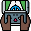 game, phone, reality, virtual, virtual reality, vr icon