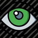 eye, movement, reality, virtual, virtual reality, vr icon