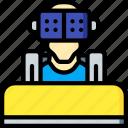arcade, coaster, reality, roller, virtual, virtual reality, vr icon