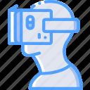 cardboard, headset, reality, virtual, virtual reality, vr icon