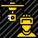control, drone, reality, virtual, virtual reality, vr icon