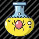 attack, bacillus, bacteria, bacterial, bacterium, cartoon, flask