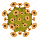 bacteria, bacterium, cartoon, germ, health, microorganism, virus icon