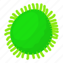 bacteria, biology, cartoon, infection, microbiology, object, round