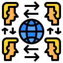 contagion, contagious, disease, global, human, infection icon