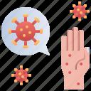 contamination, disease, hand, virus
