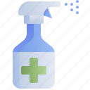 antiseptic, cleaning, hygiene, spray
