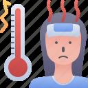 avatar, female, fever, high, woman