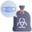 contaminated, garbage, hazardous, mask, waste