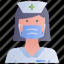 avatar, female, nurse, woman
