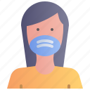 avatar, face, female, mask, wear, woman