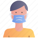 avatar, face, male, man, mask, wear