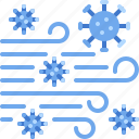 air, cell, spreading, transmission, virus icon