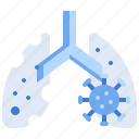 coronavirus, covid, infected, lungs icon