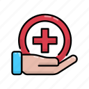 hand, health, help, hold, medic, prevention
