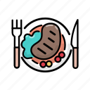 dinner, food, lunch, meal, steak icon