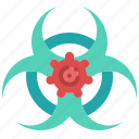 biohazard, dangerous, area, caution, virus, coronavirus icon