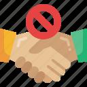 hand, avoid, no, touch, shake, coronavirus, virus icon