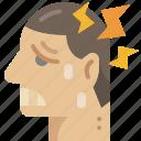 sickness, pain, head, illness, symptom, headache icon