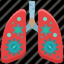 organ, healthcare, coronavirus, virus, infected, lung icon