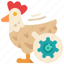 influence, food, poultry, chicken, animal, carrier, detection icon
