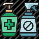 hygiene, sanitizer, hand, gel, bottle, alcohol, spray