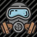 gas, toxic, protection, pollution, mask, coronavirus, safety