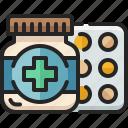 pill, container, medical, medicine, drug