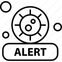 alert, transmission, virus icon