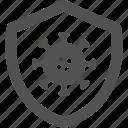 immune, protection, shield, virus icon
