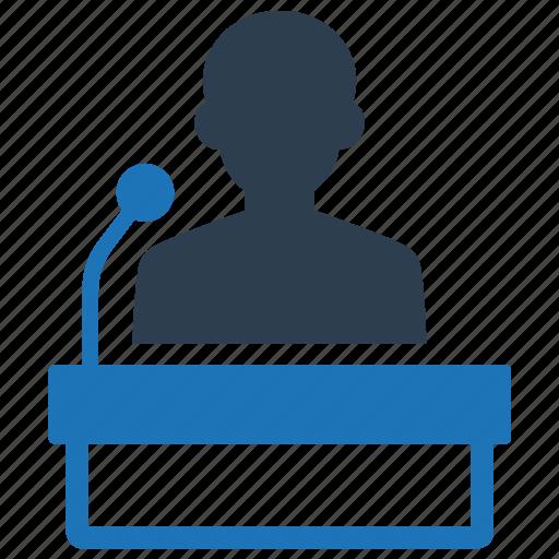 presentation, public, speech icon