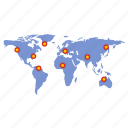 pins, pointer, map, concept, world, pin, global icon