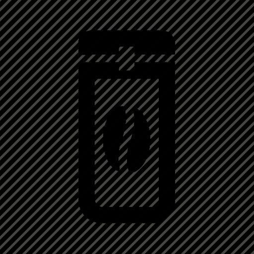 coffee tin box, vessel icon
