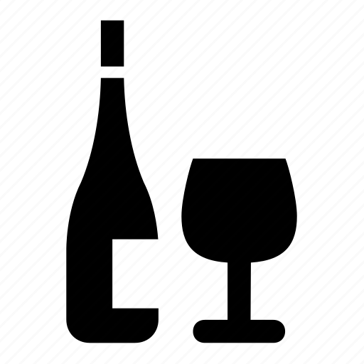 beverages, bottle, glas, wine icon