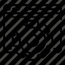 concept, element, gear, mechanical, site, vlog, wheel icon