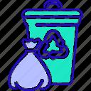 bin, charity, ecology, garbage, rubbish icon
