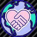 aid, charity, humanitarian, ngo, planet, volunteering icon
