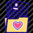 charity, folder, volunteer, volunteering, work icon