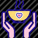 charity, food, plate, volunteering icon
