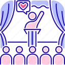 volunteering, charity, community, coordinator icon